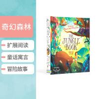 【全店300减100】Usborne 原版英文 Illustrated Origingls The Jungle Boo