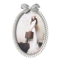 欧式摆台相框 复古属珍珠相框 办公室桌面创意婚纱照儿童照相框 其他尺寸