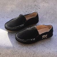 童鞋男童单鞋豆豆鞋复古休闲英伦中大童鞋子