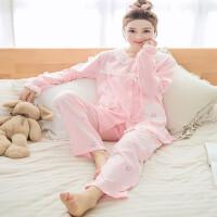 哺乳睡衣韩版大码月子服宽松透气舒适产后喂奶孕妇家居服套装ZT-08 X