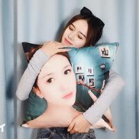 【品质推荐】照片抱枕定制被子两用来图定做双面diy自制靠枕头心形长条枕