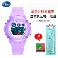 儿童手表女孩小学生夜光防水可爱数字式电子表小孩女生日礼物