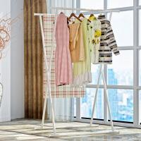 新品晾衣架不锈钢落地折叠室内室外阳台晒衣架升降双杆伸缩式简易晒衣杆凉