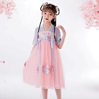 女童公主汉服裙子连衣裙儿童夏装蓬蓬纱小女孩襦裙演出服