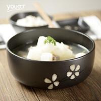 家用大容量泡面碗创意和风餐具8寸陶瓷大号汤碗