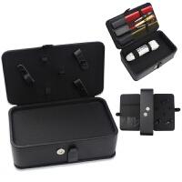 美发工具剪刀盒帆布多功能发型师收纳盒子理发店电推剪PU工具包 PU面料工具包