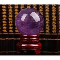 【新品���x】紫色水晶球�[件家居�L水�D�\流水原石旺事�I