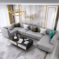 【好店】后现代简约大小户型皮艺沙发客厅家具组合轻奢美式真皮沙发贵妃位 组合
