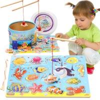 婴儿童1两2周岁3半0小孩益智力女孩男孩宝宝小猫钓鱼玩具磁性