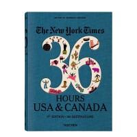 【预订】【纽约时报 36小时】USA & Canada 美国与加拿大 第3版 英文原版旅行旅游
