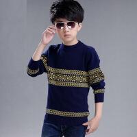 男童毛衣针织衫儿童中大童圆领套头新款加绒男宝小孩秋冬韩版毛衫