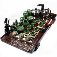 尚帝 孔雀绿冰裂茶具 祥云电磁炉茶盘套装BH2014-027A