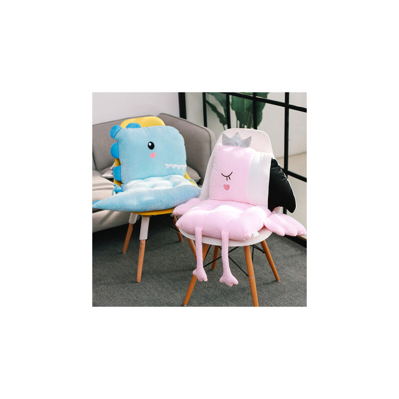 办公室椅子坐垫靠垫一体学生椅垫ins餐椅板凳子加厚女屁股垫子冬 北欧卡通风坐垫 舒适与美的享受