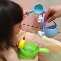 儿童洗澡宝宝戏水玩具套装喷水壶花洒男孩女孩婴儿洗头杯水上沙滩 洗澡4件套玩具(颜色随机)