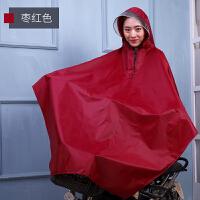 单人雨衣 自行车雨衣单人时尚透明帽檐加大加厚男女雨披B XXXL
