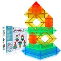 光华 菱形积木水晶版 百变魔塔金字塔塑料拼装玩具 动手动脑益智玩具