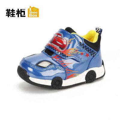 鞋柜童鞋可爱宝宝休闲骑车运动鞋舒适保暖小男孩童鞋秋冬