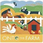 英文原版 Onto The Farm 农场动物 造型纸板书图画故事书