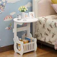 欧式卧室小圆桌床头柜简约现代迷你沙发角落小茶几小型窄收纳边几