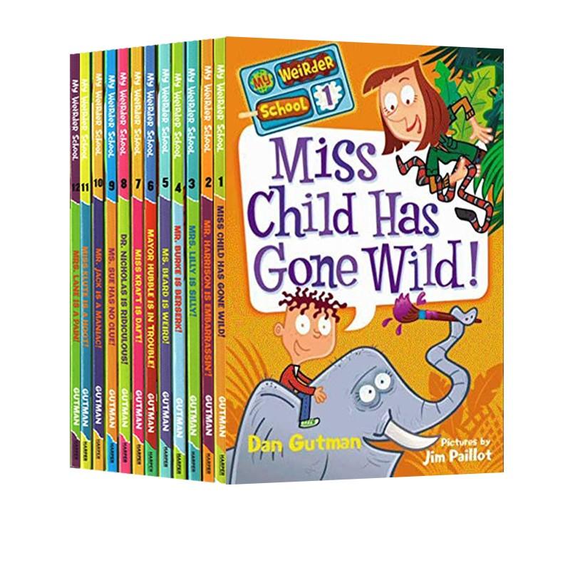 My Weirder School 英文原版套装 疯狂学校 My weird school 第三季 12册 章节桥梁书
