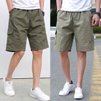 夏季薄款5分裤宽松直筒多口袋大码加肥加大短裤青年运动休闲裤男