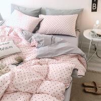 床上用品四件套全棉纯棉公主风1.8m床单人被套被子宿舍三件套定制