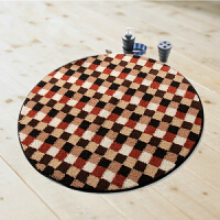 DADA大达现代吸水防滑圆形地毯地垫 客厅地毯90*90�M电脑椅垫