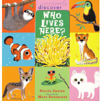 Who Lives Here? (Uncover & Discover) 谁住在这里?(翻翻书) ISBN978140
