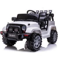儿童电动车越野新款加长版吉普 四轮汽车可坐带遥控玩具宝宝童车zf10