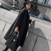 29%羊毛 冬季韩版毛呢外套大码女装长款修身收腰呢子女大衣