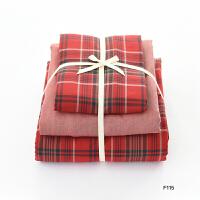 秋冬季全棉法兰绒四件套全棉床上用品磨毛三件套被套床笠定制