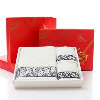毛巾礼盒套装毛巾浴巾礼盒三件套/套装结婚生日回礼印字绣字定制logo