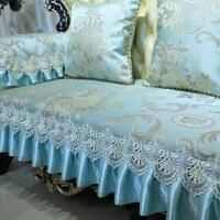 欧式皮沙发垫布艺防滑垫全盖罩美式客厅123组合四季通用
