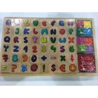 创意文具 复古木质印章 英文字母数字木制礼盒印章 木盒