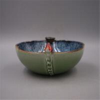 釉莲子碗仿古瓷器 旧货古玩收藏老物件摆件 默认款式