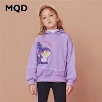【折后券后�A估�r:136】MQD童�b女童�B帽�l衣加�q加厚2020冬季新款�n版保暖��松�和��l衣