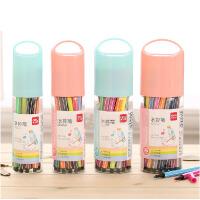 得力18色水彩笔24色36色儿童绘画美术彩笔水彩笔套装学生画画笔