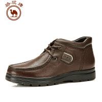 骆驼牌 新款男鞋冬季休闲皮靴保暖耐磨流行男鞋靴子