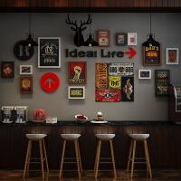 墙面装饰品复古工业风酒吧壁饰铁皮画创意个性奶茶店烧烤饭店挂饰