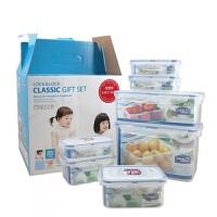 乐扣乐扣保鲜盒套装 塑料密封盒子饭盒 7件套装便当盒 HPL827S001