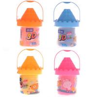智高 3D彩泥补充装 4色一套 城堡桶装橡皮泥红黄蓝橙儿童玩具