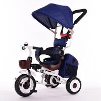 折叠儿童三轮车宝宝手推车1-3-5岁儿童三轮车脚踏车自行车YW07童