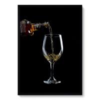 复古怀旧装饰画威士忌雪茄KTV酒吧台挂画酒杯海报墙画壁画烟酒画 组合 黑色框 水晶画芯