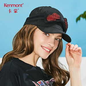 卡蒙眼罩帽子黑色鸭舌帽女潮棒球帽夏季街头潮人个性黑太阳帽出游 3631