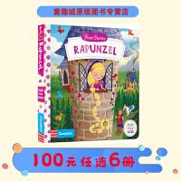 Rapunzel 长发公主 英文原版 first stories busy系列童话篇 纸板机关操作活动书