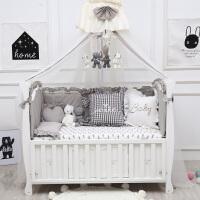 婴儿床上用品套件床围针织棉床笠被子棉被儿童床品可定制ZQ-YS015