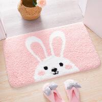 【好货】可爱卡通浴室粉色小块吸水门垫卫生间进门地垫网红垫脚垫
