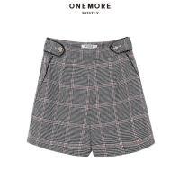 【2件3折】ONE MORE2018冬装新款嵌边装饰短裤