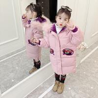 女童棉衣外套2018新款冬装女孩中长款棉袄韩版中小童洋气加厚