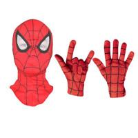 蜘蛛侠面具蜘蛛侠头套面罩儿童手套COS死侍面具英雄归电影帽子全脸